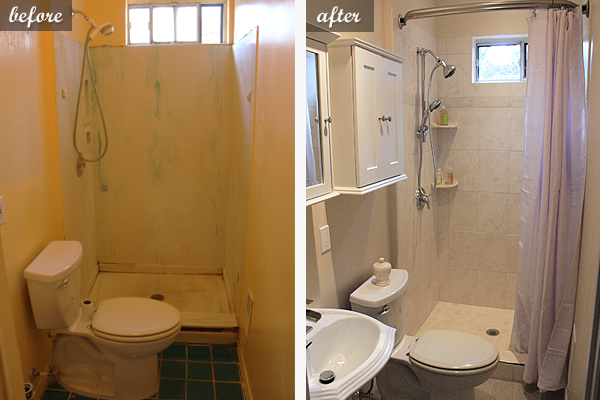 Small bathroom renovation in toronto pictures of a bathroom reno how we made use of limited Cheap bathroom remodel before and after