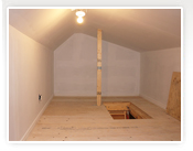 Attic conversion to Storage in Toronto