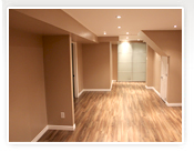Basement renovation and finishing in Toronto